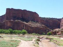 Bodem van de canyon