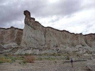 Hoge canyonwand