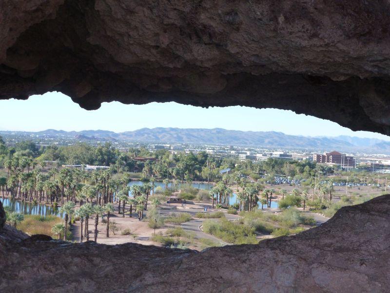 Uitzicht door Hole-in-the-Rock